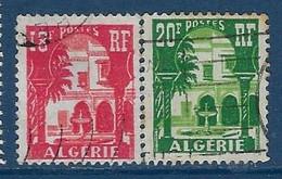 """Algerie YT 340A & 341 """" Cour Mauresque """" 1957 Oblitéré - Oblitérés"""