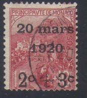 Monaco Mariage De La Princesse Charlotte Timbres De 1919 Orphelins 2 C.+3 C. S. 15 C. + 10 C.    N° 34 Oblitéré - Oblitérés