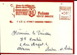 Lettre EMA Havas 1960  Conserves Beyne Du Perigord Metier 24 Eymet C39/32 - Food