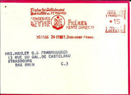 Lettre EMA Havas 1966  Conserves Beyne Du Perigord Metier 24 Eymet C39/33 - Food