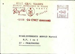 Lettre EMA Havas 1970 Foies Gras Conserves Beyne Du Perigord Metier 24 Eymet C39/34 - Alimentación