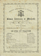 Stavelot, Institut St Remacle, Programme Concert 6 Mars 1894 - Stavelot