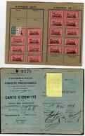 Carte D'adhérent à La Fédération Des Syndicats Professionnels Des Cheminots De France Et Colonies, Le 1er Mai 1921 - Other