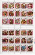 Yemen MNH Pair Of 2 Minisheets Of 15 Stamps, Jesus Christ. - Christianity