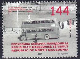 MACEDONIA NORTH 2021,TRANSPORT,BUS, DOUBLE DECKER,MNH - Macedonia