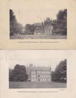Cpa Belgique - Lot De 2 Cartes - Courcelles-motte Château De Miaucourt (voir Scan Recto-verso) - Courcelles