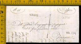 Piego Con Testo Argenta Per Ferrara - 1. ...-1850 Prefilatelia