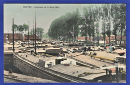 RARE ET BELLE CPA 62 BEUVRY - Panorama De La Gare D'Eau - Beuvry