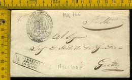 Piego Con Testo Militare Corpo Reale Del Genio Gaeta - 1. ...-1850 Prephilately