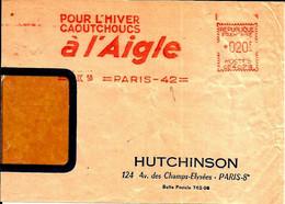 Lettre EMA Havas 1958  Pour L'hiver Caoutchoucs  à L'aigle Hutchinson  Metier Chaussure 75 Paris  C39/38 - Factories & Industries