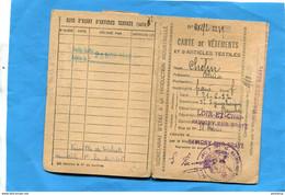 Guerre 1939-45- Carte De  Vêtements Et Articles Textiles-1945-Savigny  Sur Braye-+tickets - Historical Documents