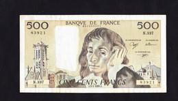 BANKNOTES-FRANCE-500--CIRCULATED-SEE-SCAN - 500 F 1968-1993 ''Pascal''