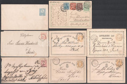 1856-1878 10 Db Klasszikus Küldemény Jobbakkal, Hozzá 2 Alkalmi Bélyegzés Az 1930-as évekből + 1 Deutsches Reich Infláci - Non Classificati