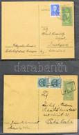 Díjjegyes Levelezőlap Gyűjtemény Az 1867-es Kiadástól Az 1960-as évekig, összesen 77 Db Levelezőlap Gyűrűs Berakóban / P - Non Classificati