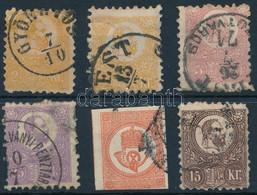 O 1871 5 Db Kőnyomat + 1 Réznyomat, Hibás, Javított Bélyegek / 6 Repaired, Faulty Stamps - Non Classificati