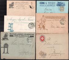 1900-1918 18 Db Céges Küldemény, Cég Logóval, Reklámmal, Változatos Anyag / 1900-1918 18 Business Covers With Logos And  - Non Classificati