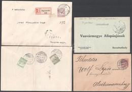 10 Db 1909-1919 Közötti Burgenlandi Küldemény, Kis Településekkel / 10 Covers, Postcards From Burgenland - Non Classificati