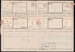1928-1934 7 Db Távirat Képes és Szöveges Sör Reklámokkal / 1928-1934 7 Telegrammes With Advertising - Non Classificati