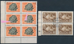 O 1950-1958 3 Db Lemezhibás Bélyeg (11.150) / 3 Stamps With Plate Variety - Non Classificati