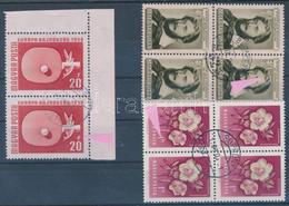 O 1952-1958 3 Klf Lemezhibás Bélyeg összefüggésekben (10.350) / 3 Different Stamps With Plate Variety - Non Classificati