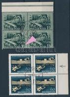 O 1952-1959 Bányásznap és Haydn Négyestömbökben Lemezhibával (10.400) / Blocks Of 4 With Plate Variety - Non Classificati