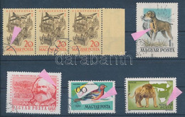 O 1958-1981 5 Klf Lemezhibás Bélyeg (14.000) / 5 Different Stamps With Plate Variety - Non Classificati