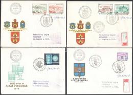 1964-1976 8 Db FDC Vertel József Aláírásával / 8 FDC's With Signature Of Vertel József - Non Classificati