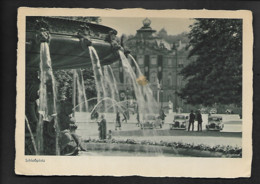 DR Ak Stuttgart / Hakenkreuzfahne Schloßplatz - Oorlog 1939-45