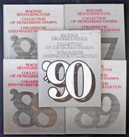 ** 1986-1990 5 Klf Magyar Bélyegkincstár / 1986-1990 Year Books - Non Classificati