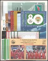 ** A Magyar Asztalitenisz Története 1924-2019 92 Db Emlékív / Souvenir Sheets, 92 Pieces - Non Classificati