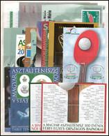 ** 1924-2019 A Magyar Asztalitenisz Története 45 Klf Emlékív / 1924-2019 45 Different Souvenir Sheets: History Of Hungar - Non Classificati