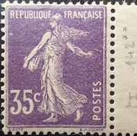 R1491/285 - 1907 - TYPE SEMEUSE CAMEE - N°142 (I) NEUF** Papier GC BdF LUXE - 1906-38 Säerin, Untergrund Glatt