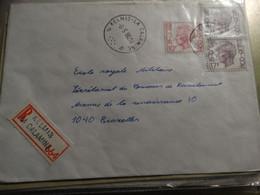A Partir De Kelmis-la-Calamine En Recommandé Vers Bruxelles. - Lettres & Documents