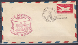 Brief Van New York Air Mail Field Naar U.S. Air Mail Experimental Helicopter Service - Helicopters
