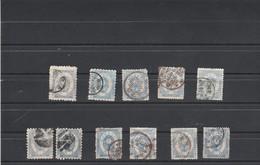 Japon 1879 1883 : 11 Timbres 5 Sen Voir Dentelure Oblitération - Used Stamps