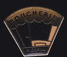 70467-Pin's.Philippe Cornu, Boucherie - Charcuterie à Gorron. Mayenne - Levensmiddelen