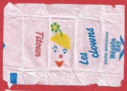 FR.- Suikerwikkel. Sucre Enveloppe. LES CLOWNS. TITOUN. Sucre MORCEAUX. BEGHIN SAY.  Sugar. Suiker. Zucker - Sugars