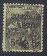 Monaco Mariage Princesse Charlotte Timbres De 1919 Orphelins 5c.+5c.s. 1f.+1f. N° 37 Neuf Avec Trace De Charnière - Neufs
