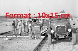 Reproduction Photographie Ancienne D'un Camion Saurer Benne Basculante Chantier Aéroport Genève-CointrinSuisse 1958 - Riproduzioni