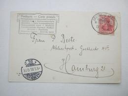 1906 , Seepost Hamburg - Westafrika  , Klarer Stempel Auf Karte - Colonie: Afrique Sud-Occidentale