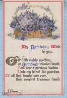 USA / Vintage Postcard / A Happy Birthday. Flowers. 1913 - Sonstige