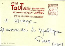 Lettre EMA Havas 1960 Pour Tout Faire Motoculteur Staub Industrie Metier Transport Jardin Courbevoie C39/43 - Agriculture