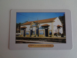 Train Junta De Freguesia Do Entroncamento Estação De Castelo De Vide Portugal Portuguese Pocket Calendar 2000 - Small : 1991-00