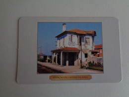 Train Junta De Freguesia Do Entroncamento Estação De Castelo Da Maia Portugal Portuguese Pocket Calendar 2000 - Small : 1991-00