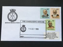 NEW ZEALAND 1998 Cover With `Commanding Officer HMNZS Resolution` Cachet - Briefe U. Dokumente
