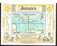 """GIAMAICA - 1990 - FOGLIETTO SERIE """"COLOMBO 500° SCOPERTA AMERICA"""" - (MLH) - Jamaique (1962-...)"""