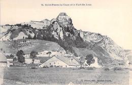 25 - ST PIERRE LA CLUSE ( LA CLUZE Et MIJOUX ) Vue Générale Et Le Fort De Joux - CPA Village ( 1.310 Habitants) - Doubs - Other Municipalities