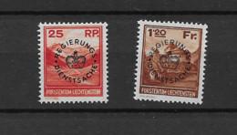 1933 MNH Liechtenstein, Mi 9-10 Postfris** - Official