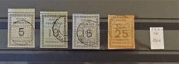 04 - 21 / Madagascar N° 8 - 9 - 10 - 11  - Tous Beaux - Cote : 190 Euros - Used Stamps