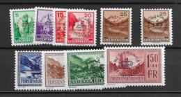 1934 MNH Liechtenstein, Mi 11-19  Postfris** (both Colours Of The 25rp) - Official